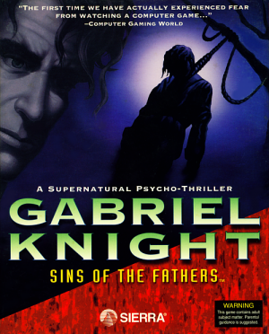 Gabriel Knight: Sins of the Fathers - Cover art