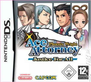 Phoenix Wright: Ace Attorney - Justice for All Box Cover