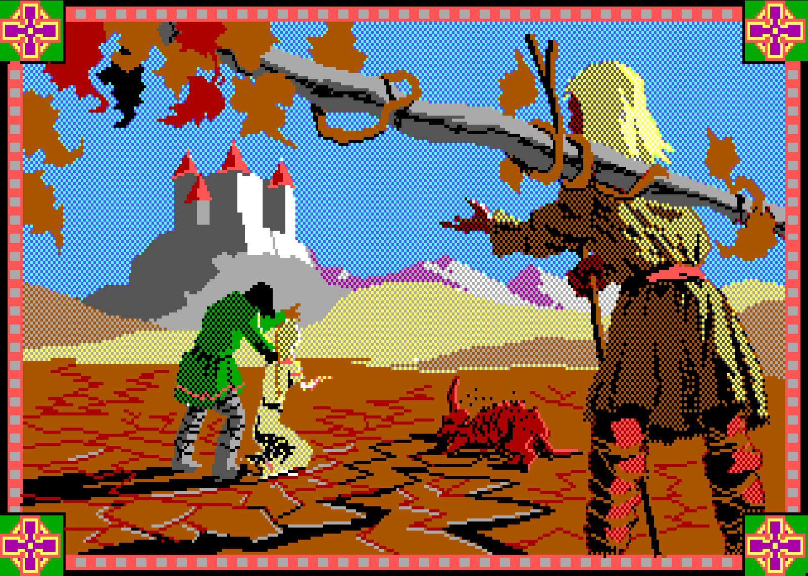 Conquests of Camelot: The Search for the Grail (1990) - Game