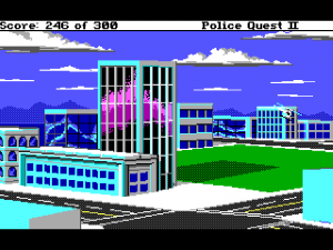 'Police Quest 2: The Vengeance - Screenshot #1