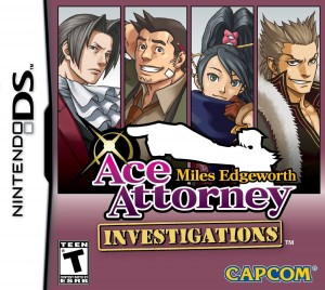 Ace Attorney Investigations: Miles Edgeworth - Cover art