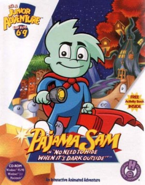 Pajama Sam in 'No Need to Hide When It's Dark Outside' - Cover art