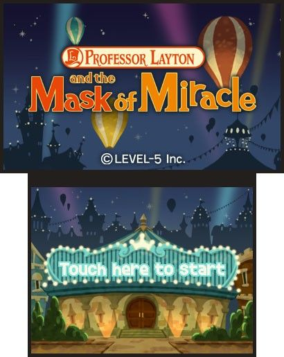 Screenshot for Professor Layton and the Miracle Mask #0